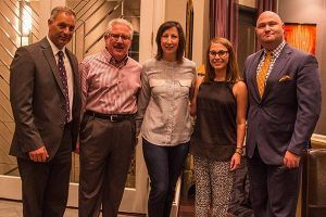 (l to r) Dr. Eyal Sela; A. J. and Suellen Rosmarin;  Sara Golman, Mgr., Israel & Overseas, Dallas Federation; and Bradley Laye, CEO of the Dallas Federation