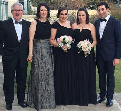 (L-R): A. J., wife Suellen, daughter Shelley, daughter  Marci Gilbert, and Marci's husband Jeffrey Gilbert