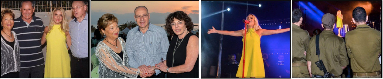 (L – R): Raya Strauss Ben-Dror, Michael Iluz, Shiri Maimon and Dr. Masad Barhoum; Strauss, Barhoum, and Gila Oshrat, WIZO Israel Chairwoman; Shiri Maimon on stage; soldiers in attendance