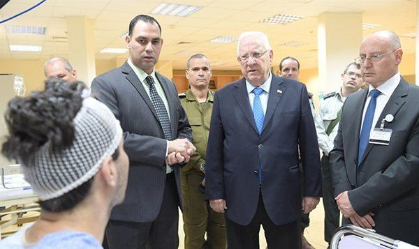 President Rivlin's visit to GMC. photo credit: Amos Ben-Gershom/GPO