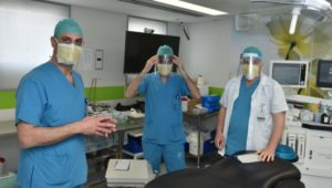 Israeli hospital pilots virus-killing sticker for coronavirus masks