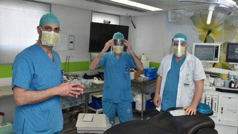 Israeli hospital pilots virus-killing sticker for coronavirus masks