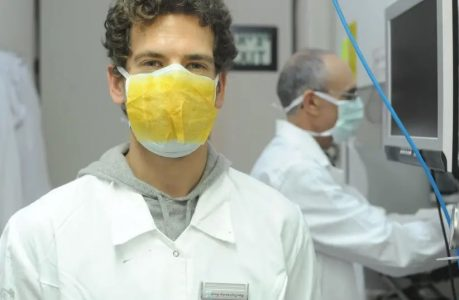 Israeli-developed sticker that enhances mask protection is mass produced